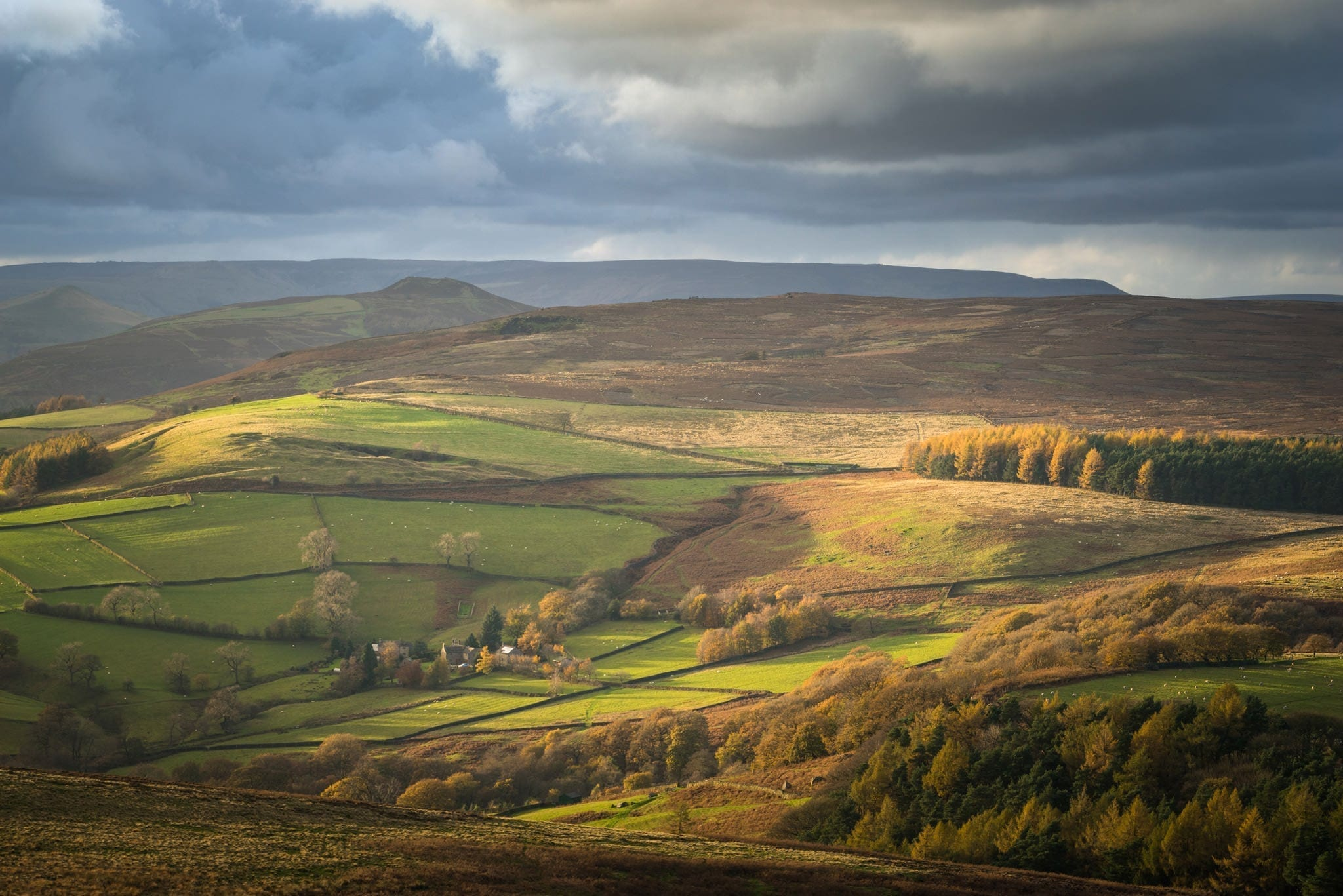 Stanage Edge to Win Hill Stormy Skies - Gritstone Edges Peak District Photography Workshop