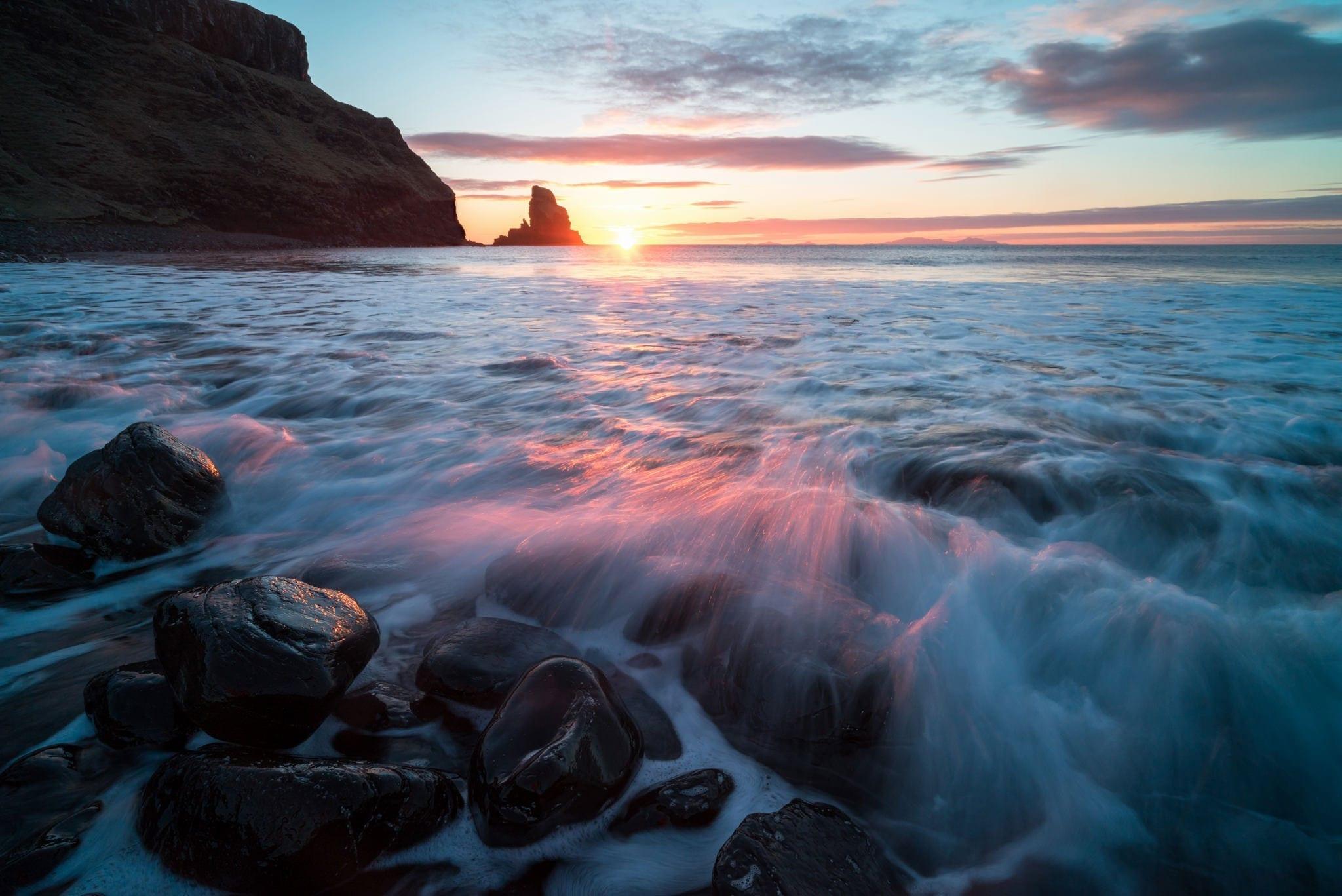 Talisker Bay Sunset - Scotland Photography