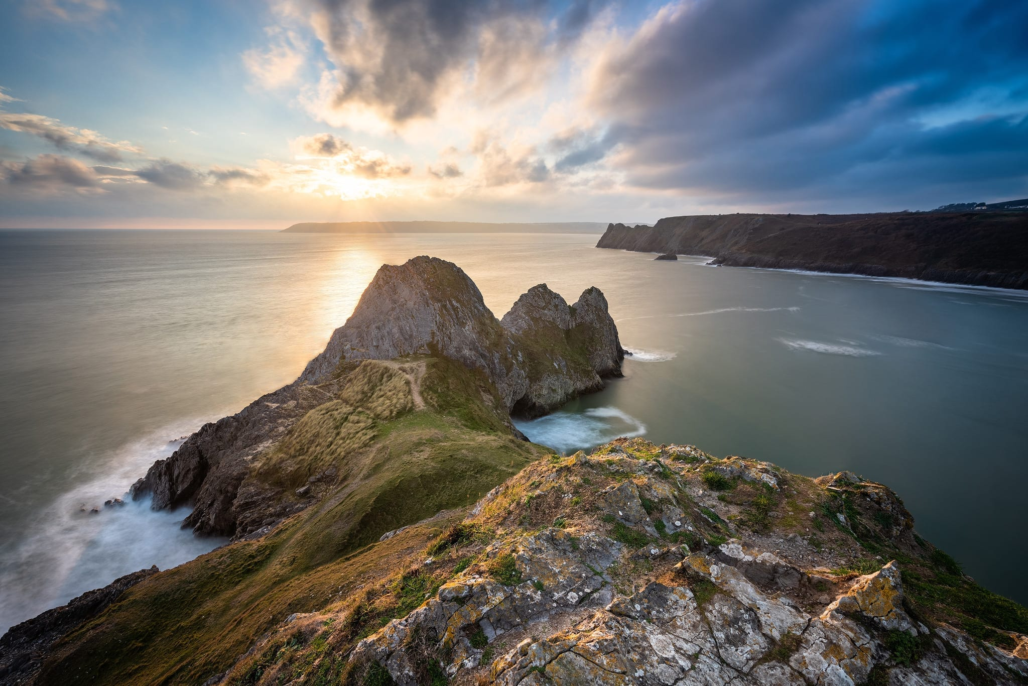 Three Cliffs Bay Sunset - South Wales Photography