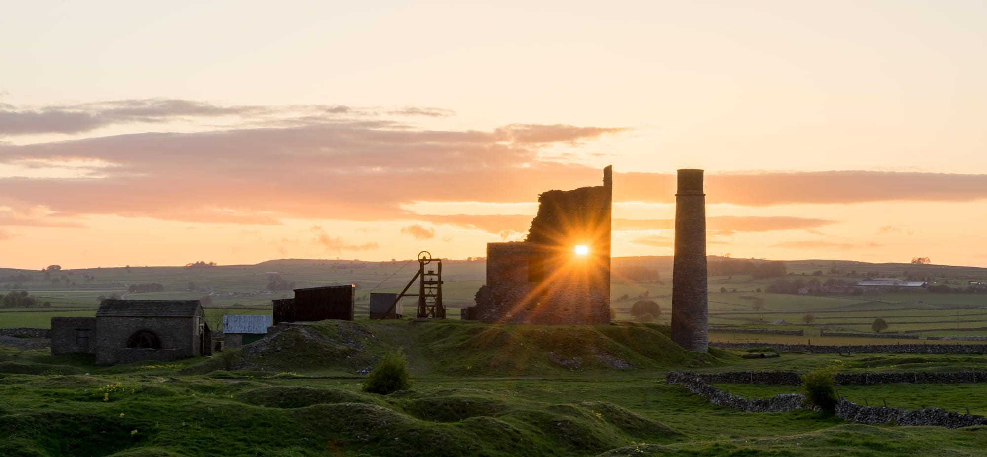 Magpie Mine Through The Gap Sunset - Bakewell and Chatsworth Peak District Photography Workshop