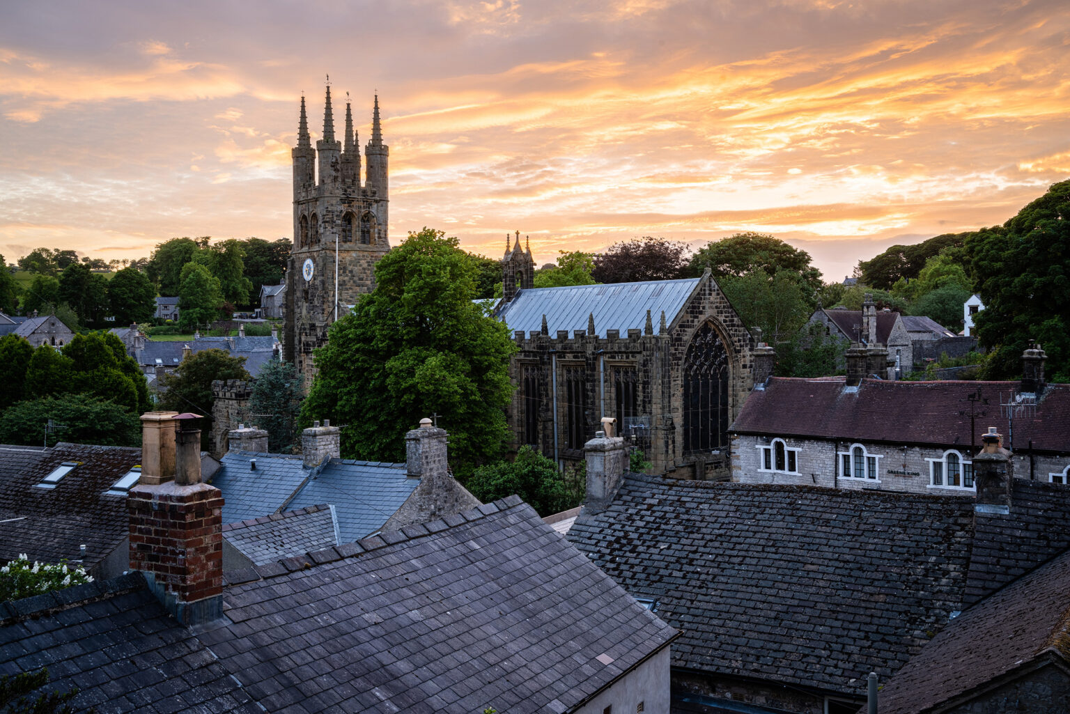 Tideswell Cathedral of the Peak Sunset – Peak District Photography