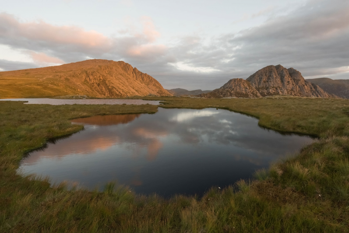 Tryfan and Glyder Fach Sunrise - Snowdonia Photography
