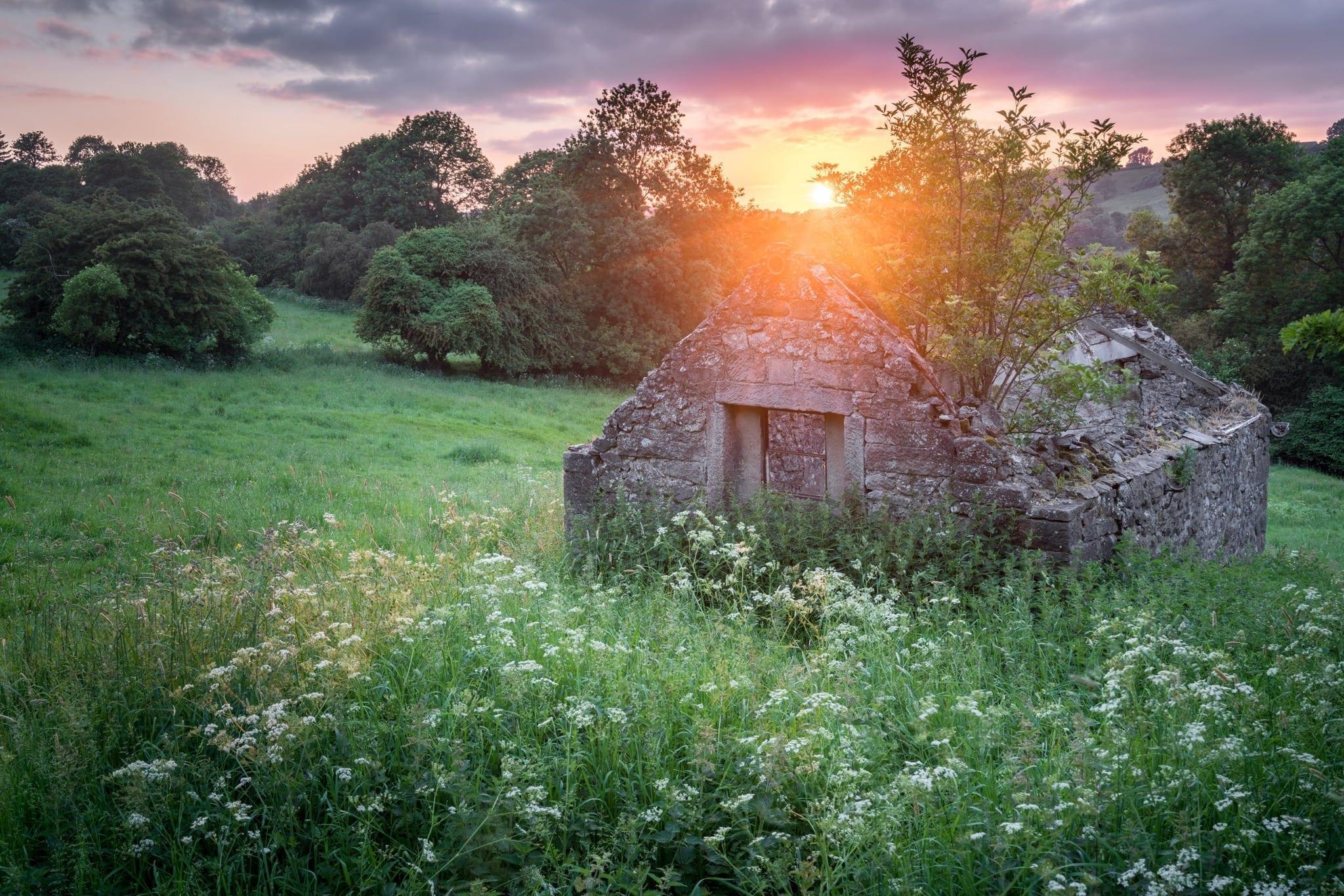 Winster Barn Sunset - Peak District Photography