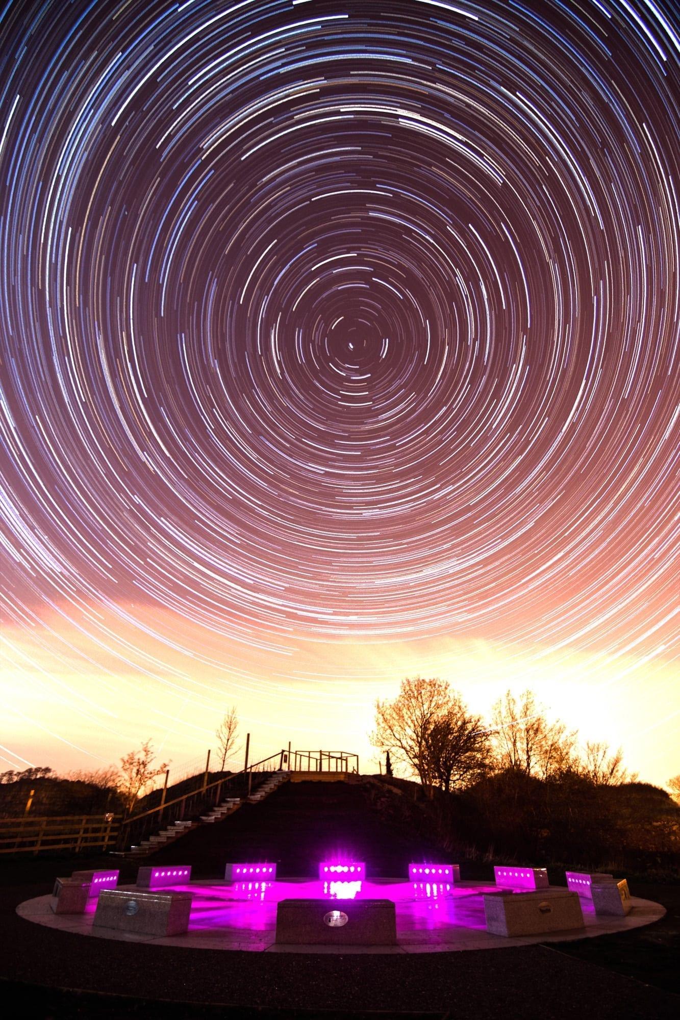 Wirksworth StarDisc Star Trails - Matlock Photography Workshop