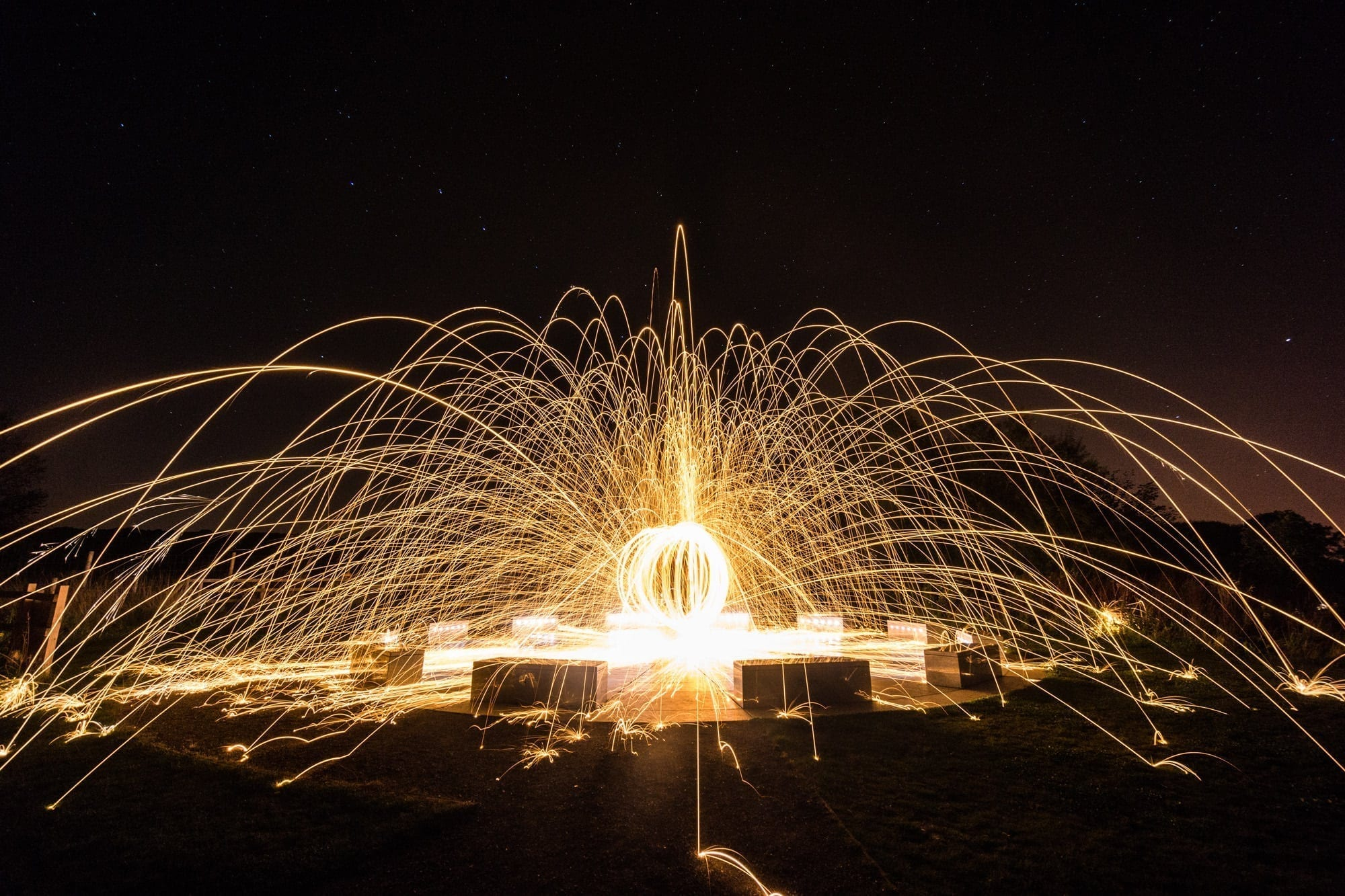 Wirksworth Star Disc Fireball  - Peak District Photography