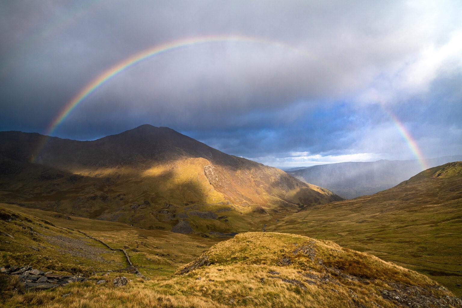 Y Llliwedd Rainbow – Snowdonia Landscape Photography