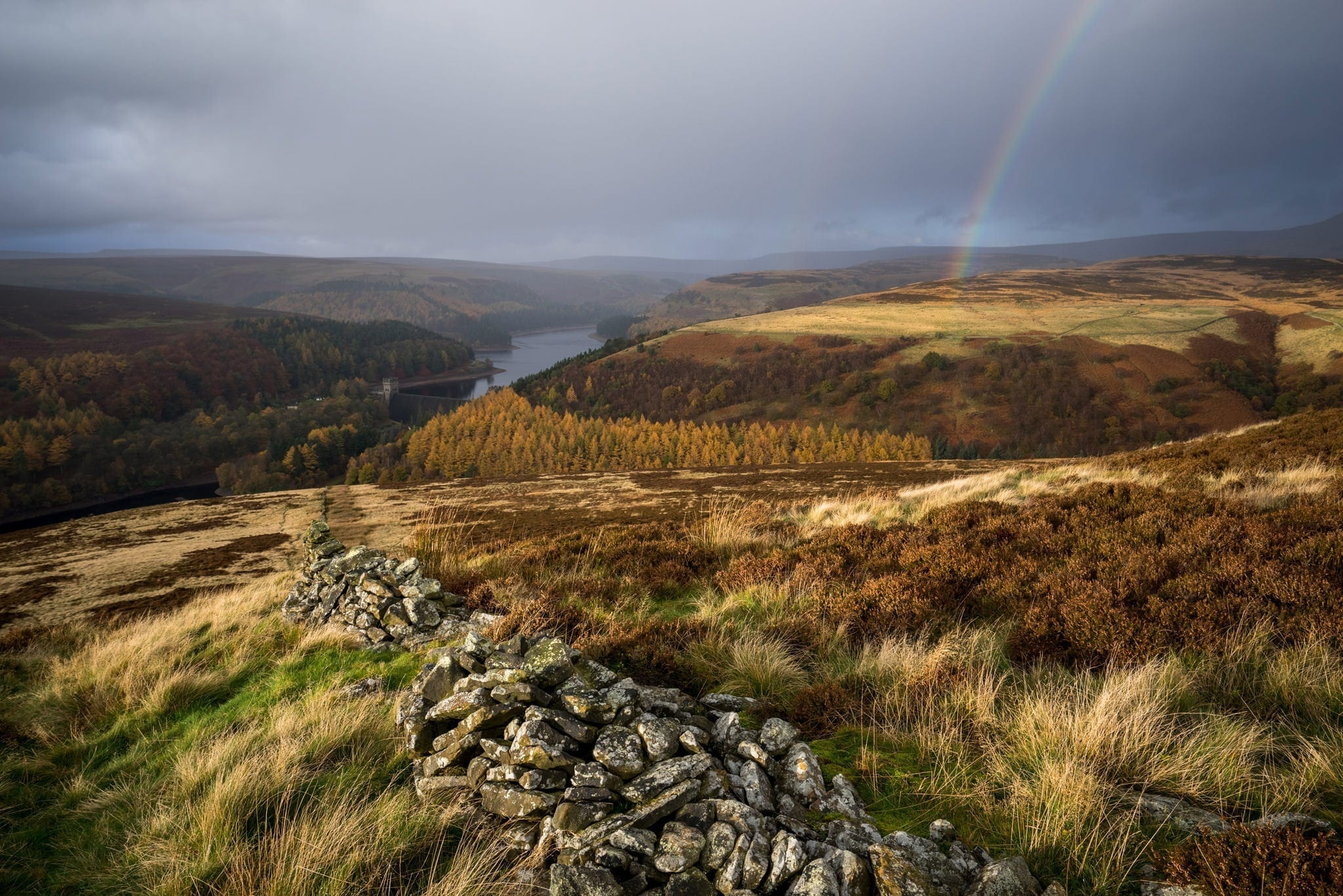 Abbey Bank Rainbow - Autumn in the Peak District Photography Workshop