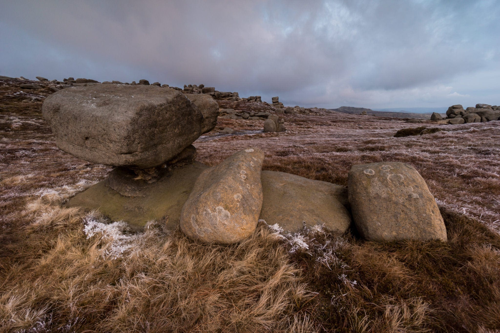 Anvil Stone at the Wool Packs - Kinder Scout Sunrise to Sunset Workshop