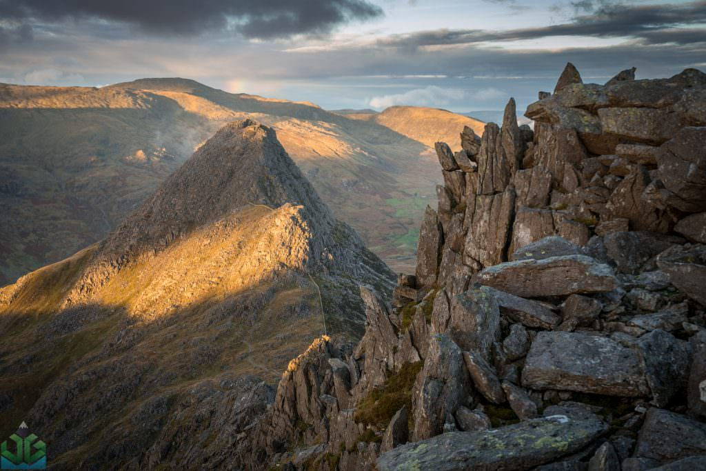 Bristly Ridge to Tryfan Sunset - Glyder Fach - Snowdonia Photography