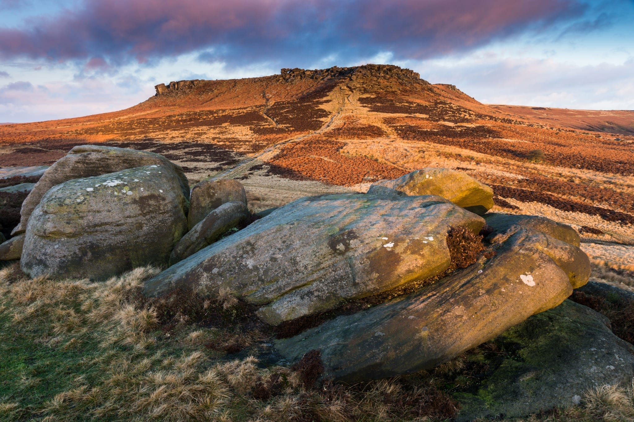 Carl Wark to Higger Tor Sunrise - Peak District Through The Lens Photography Workshop