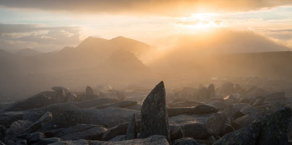 Castell y Gwynt Sunset - Snowdonia Photography