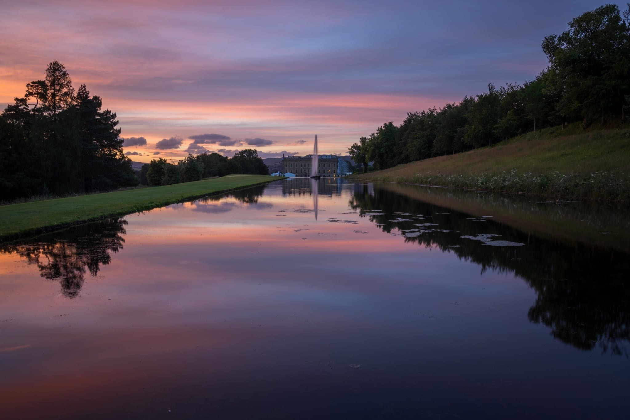 Emperor Lake - Chatsworth House Sunset - Bakewell and Chatsworth Peak District Photography Workshop