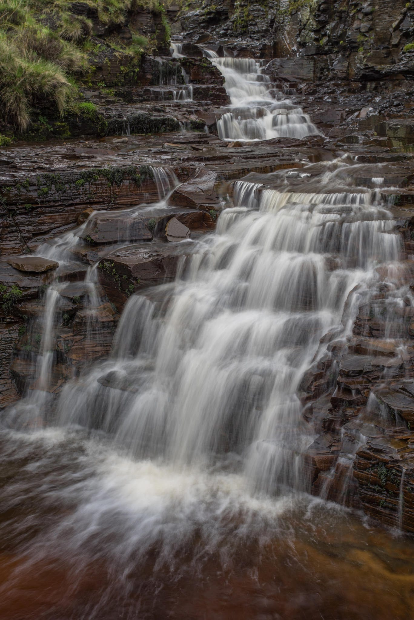 Grindsbrook Clough Waterfall - Kinder Scout Photography Workshop