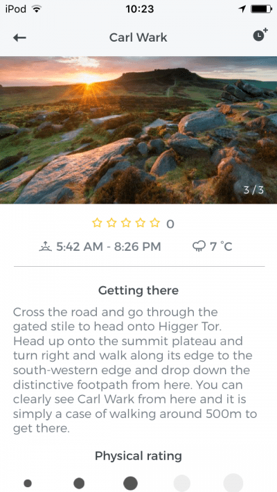 SNAPP Guides Peak District Photography Guide Screenshot