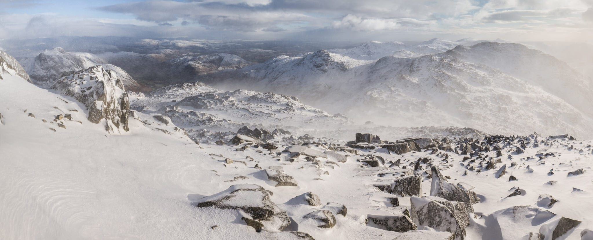 Looking To Crinkle Crags in Winter - Lake District Photography Workshops