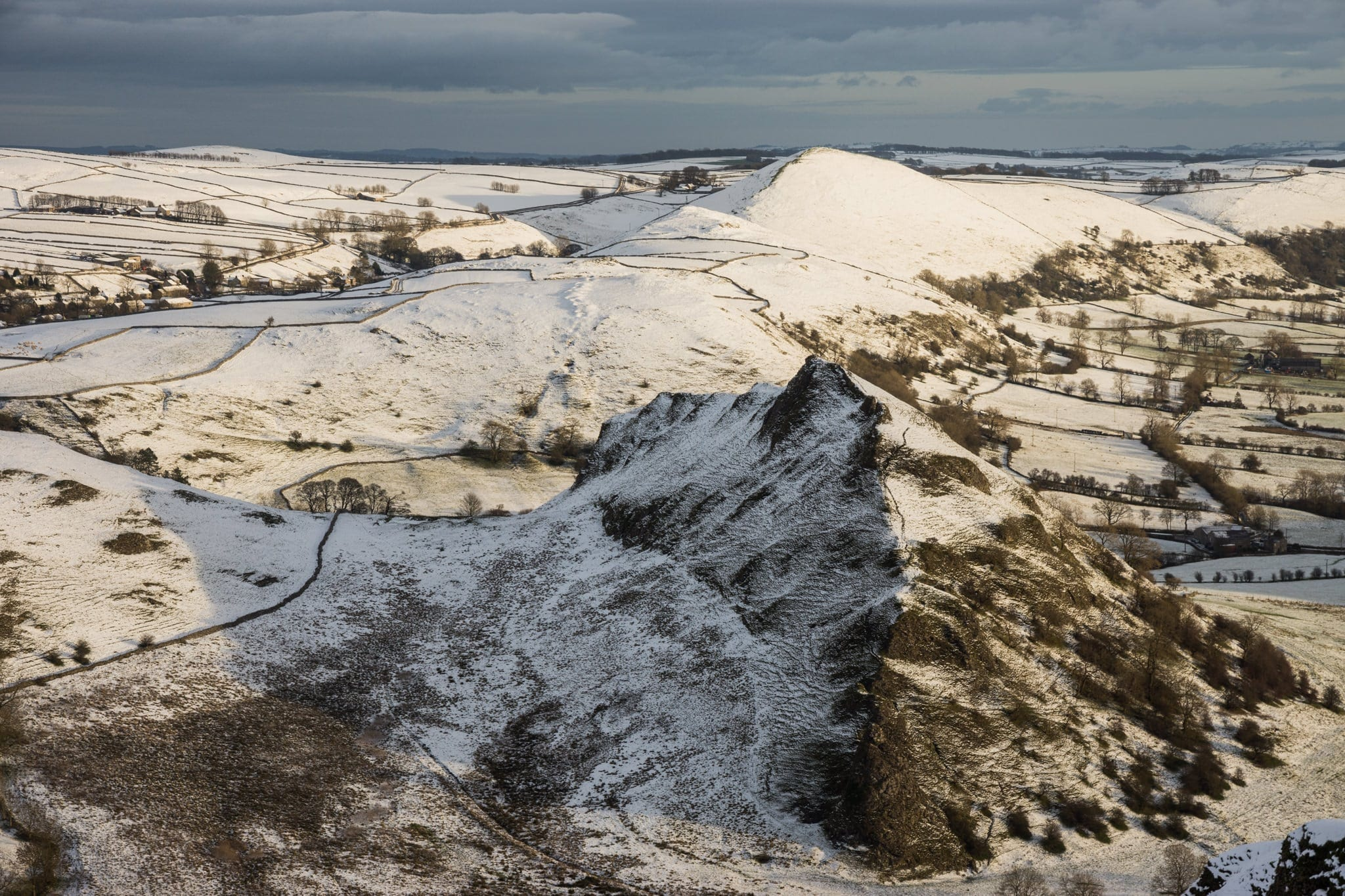 Parkhouse Hill from Chrome Hill - White Peak District Winter Photography Workshop