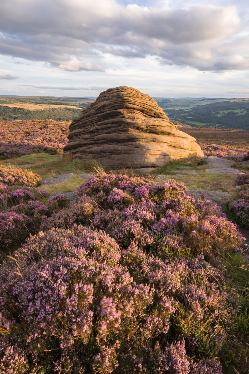 The Beehive Sunset - Heather in the Peak District Photography Workshop