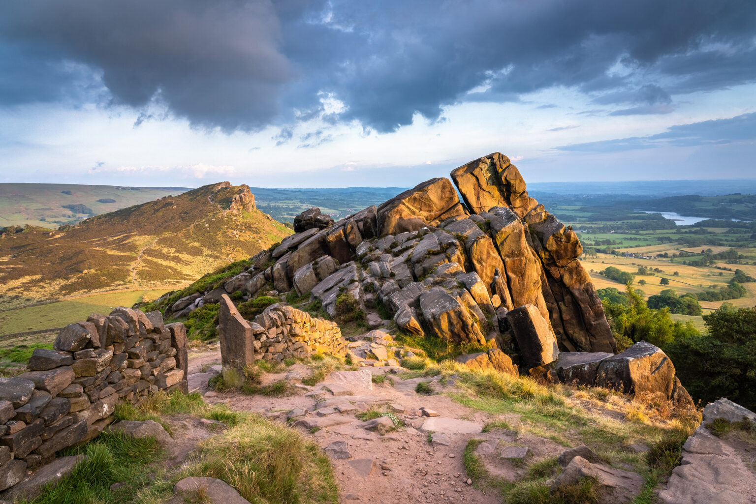 The Roaches to Hen Cloud at Sunset - Peak District Photography