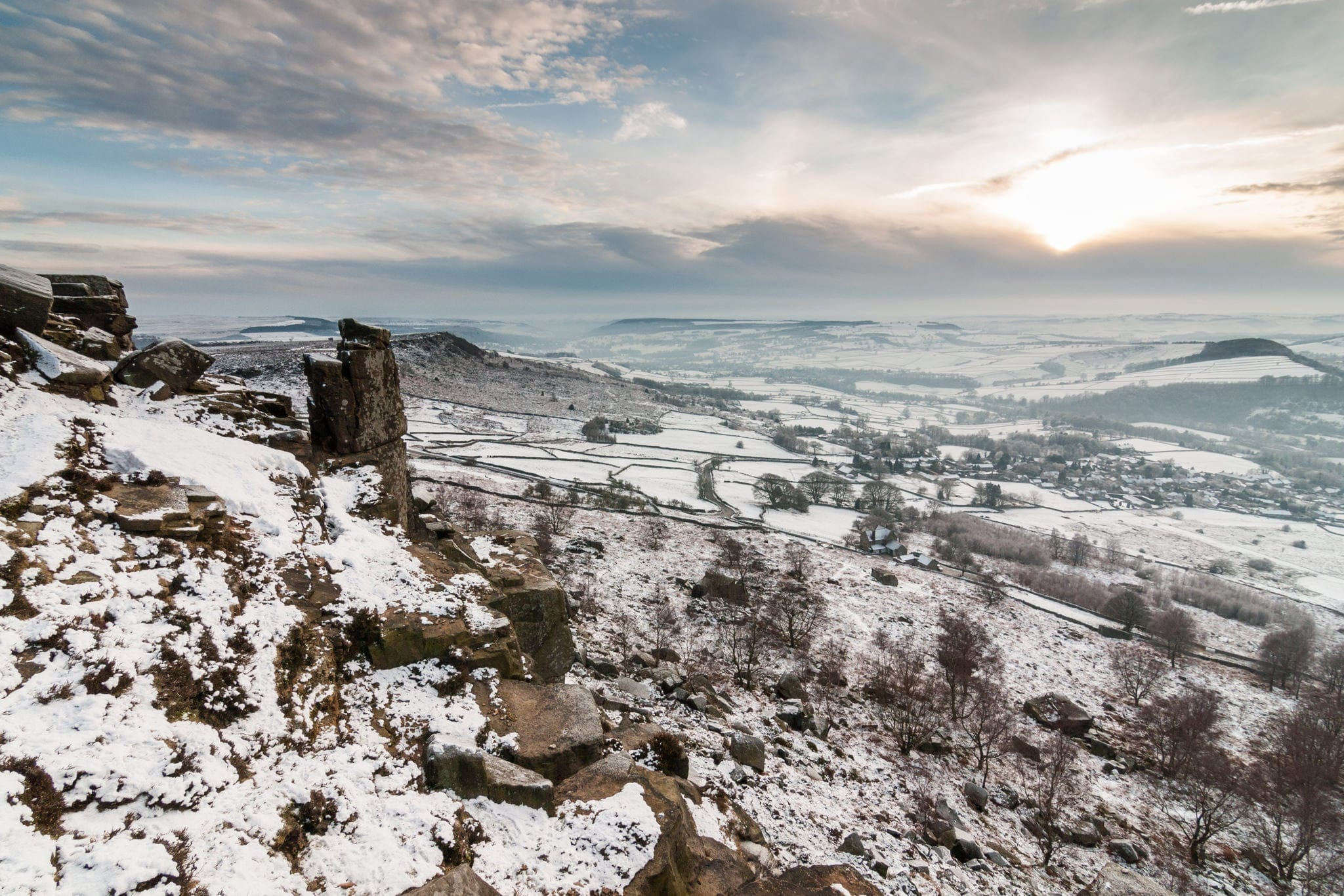 Curbar Edge - - Peak District Photography Winter Workshop