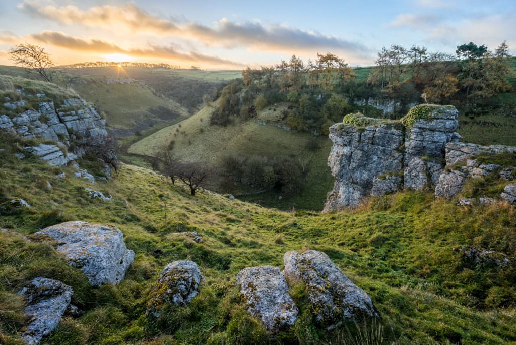 Parson's Tor Sunrise Autumn - Peak District Photography
