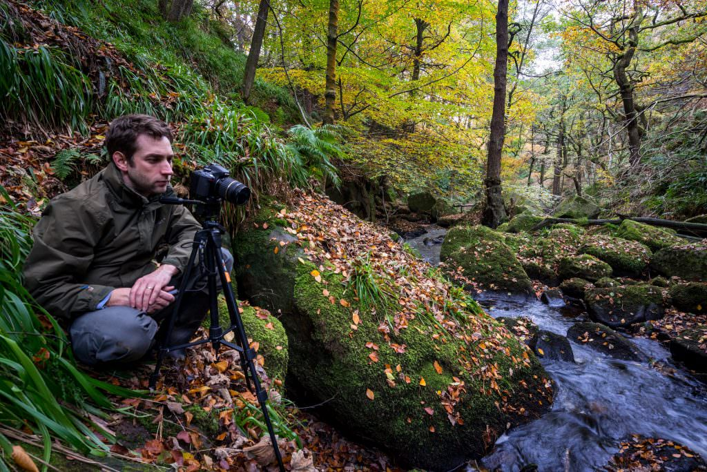 Rich enjoyed spending his day on the workshop photographing the Autumn colours which is his favourite season. This shot is of him perched on a ledge to get the perfect composition in Padley Gorge.