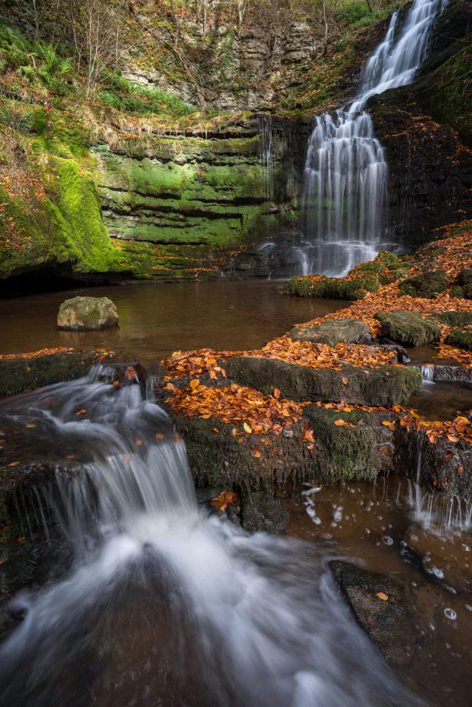 Scalebar Force Waterfall Autumn