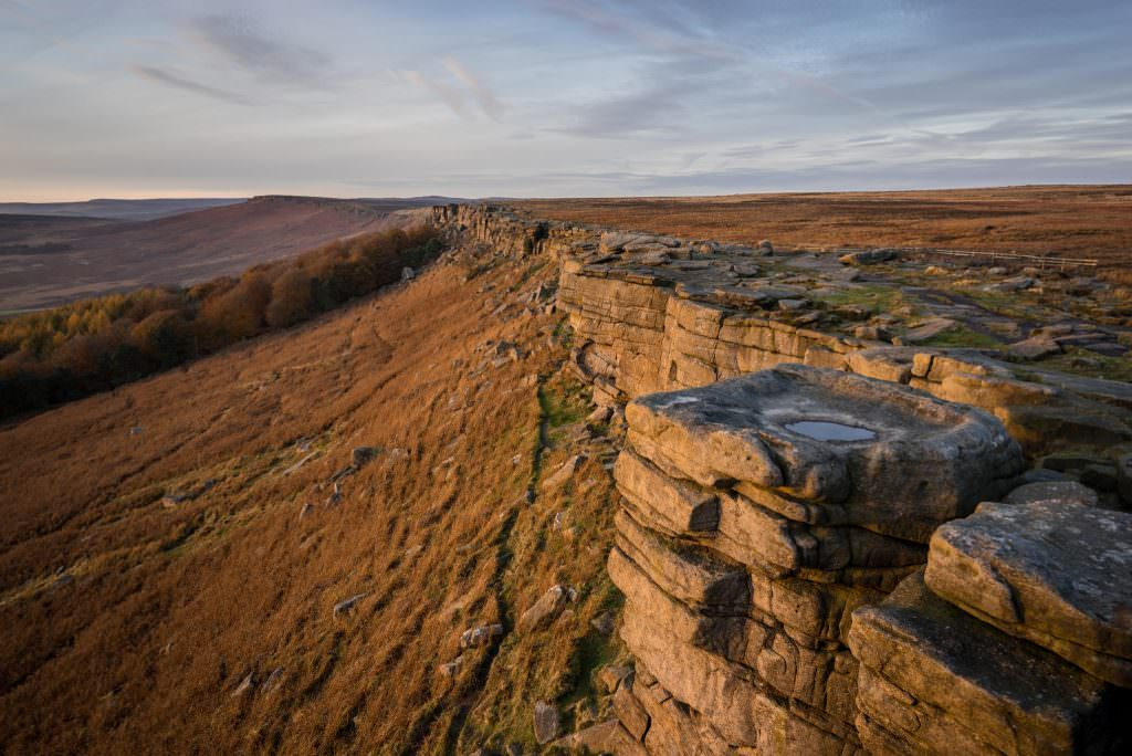 Stanage Edge Autumn Sunset - Peak District Photography