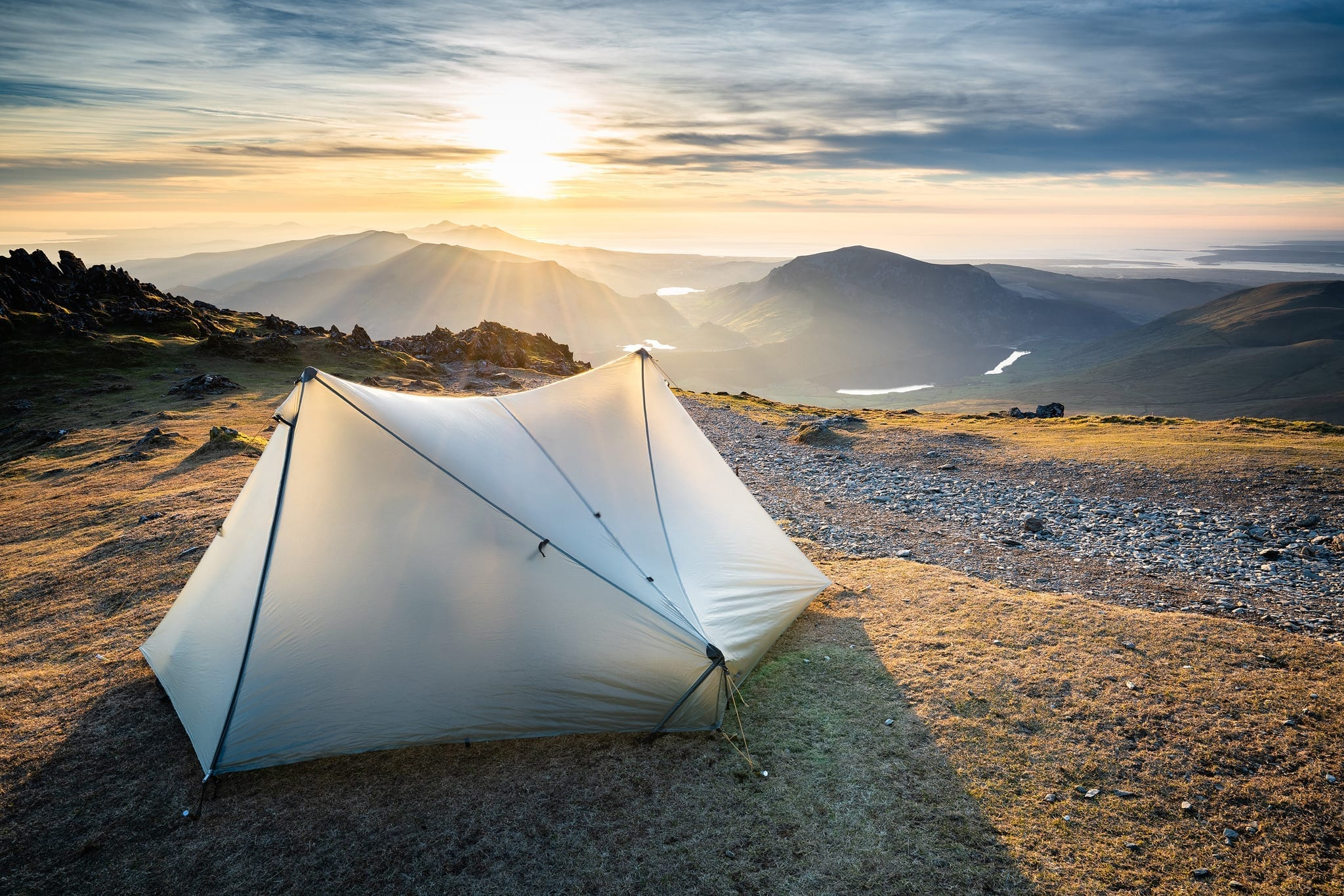 Tarptent Wild Camping on the Rhyd Ddu Path - Snowdonia Wild Camping Photography Workshop