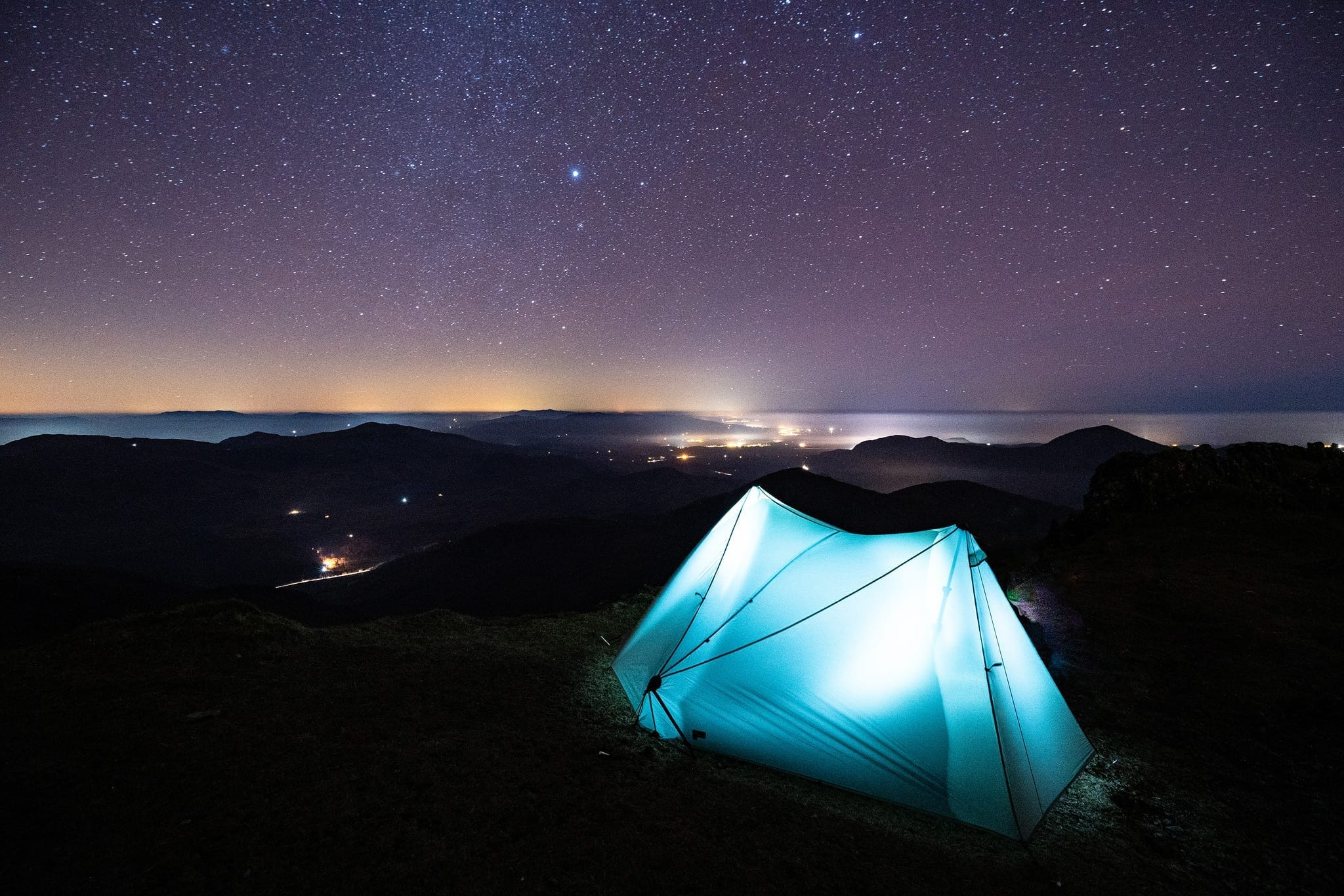Tarptent Wild Camping on Snowdon - Snowdonia Wild Camping Photography Workshop