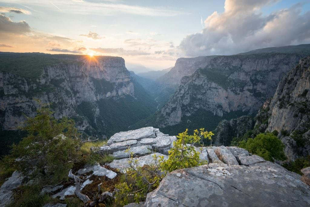 Vikos Gorge Beloi Sunset - Greece Photography