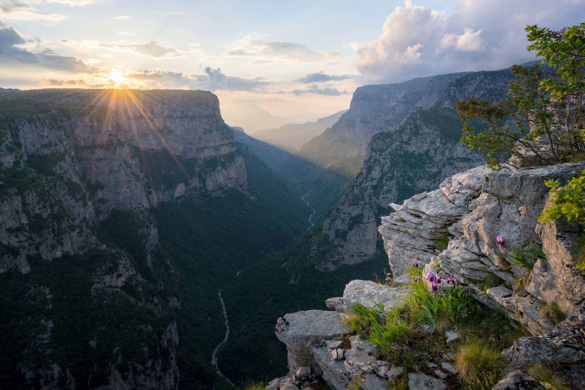 Vikos Gorge Sunset - Greece Photography