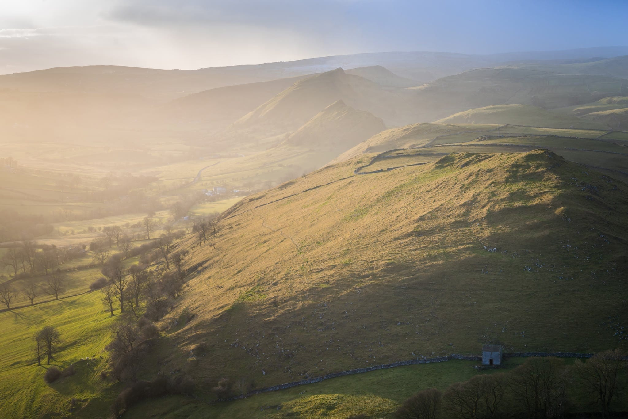 High Wheeldon Sunset - South Peak District Limestone Photography Workshop