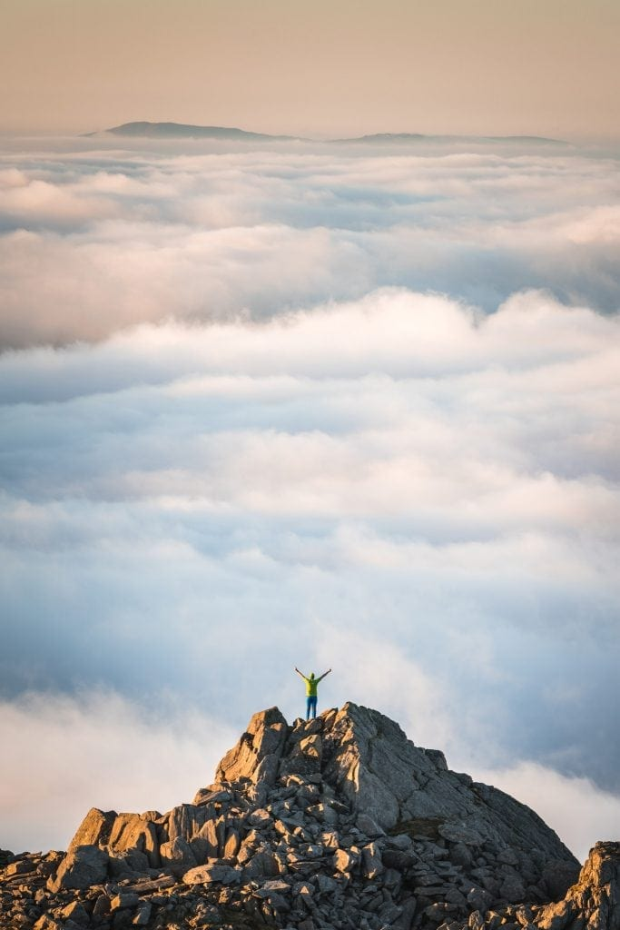 Admiring the View Above the Clouds - Wild Camping Photography Workshops