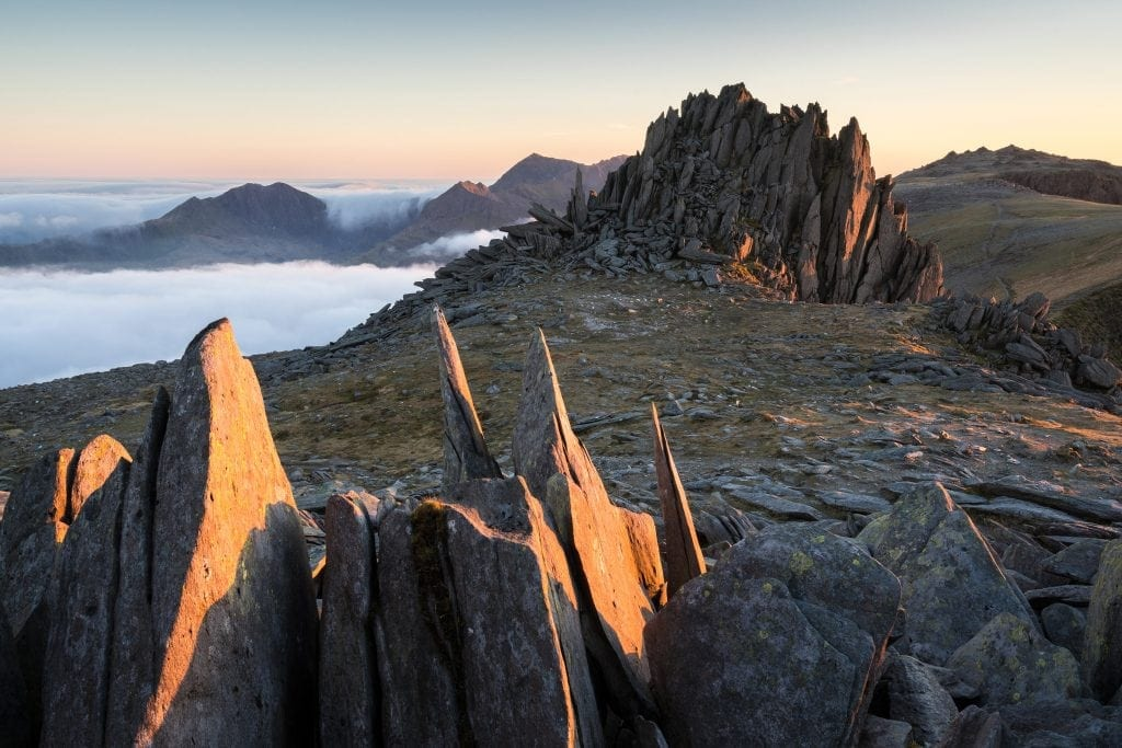 Castell Y Gwynt Sunset Inversion - Wild Camping Photography Workshops