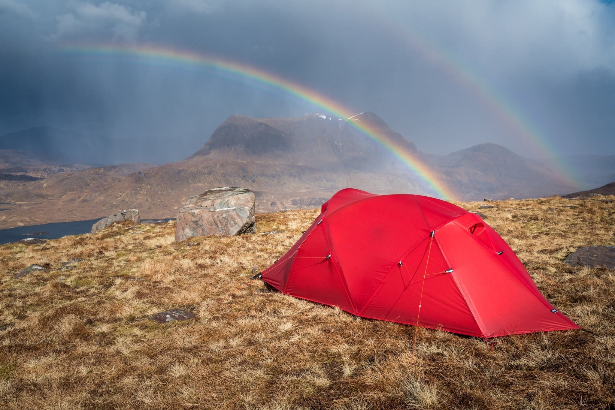 Stac Polliadh Wild Camping Rainbow - Assynt Wild Camping Photography Workshop