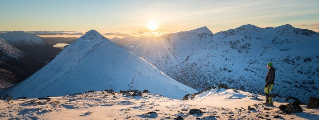 Stob Coire Raineach WInter Sunset - Adventure Person
