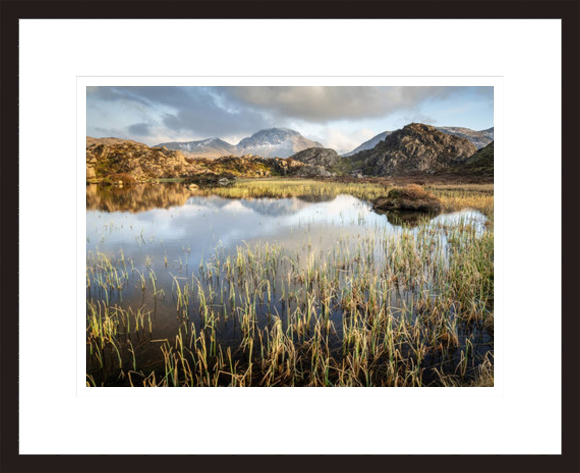 20mm Matt Black Lake District Framed Print