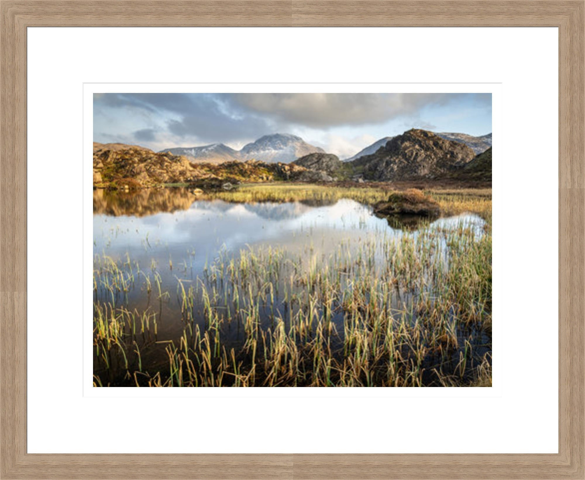 28mm Walnut 2 Lake District Framed Print
