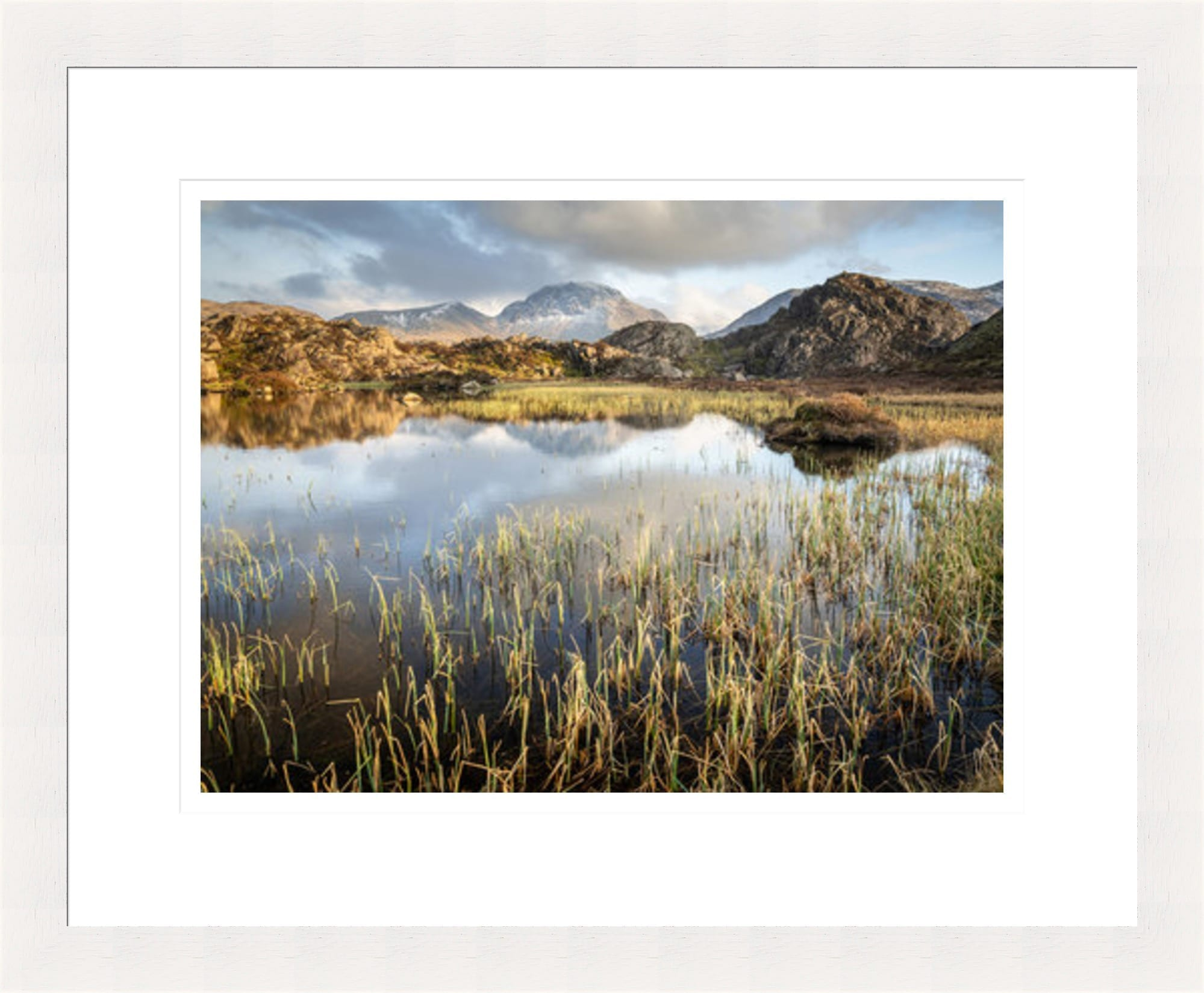 35mm White Lake District Framed Print