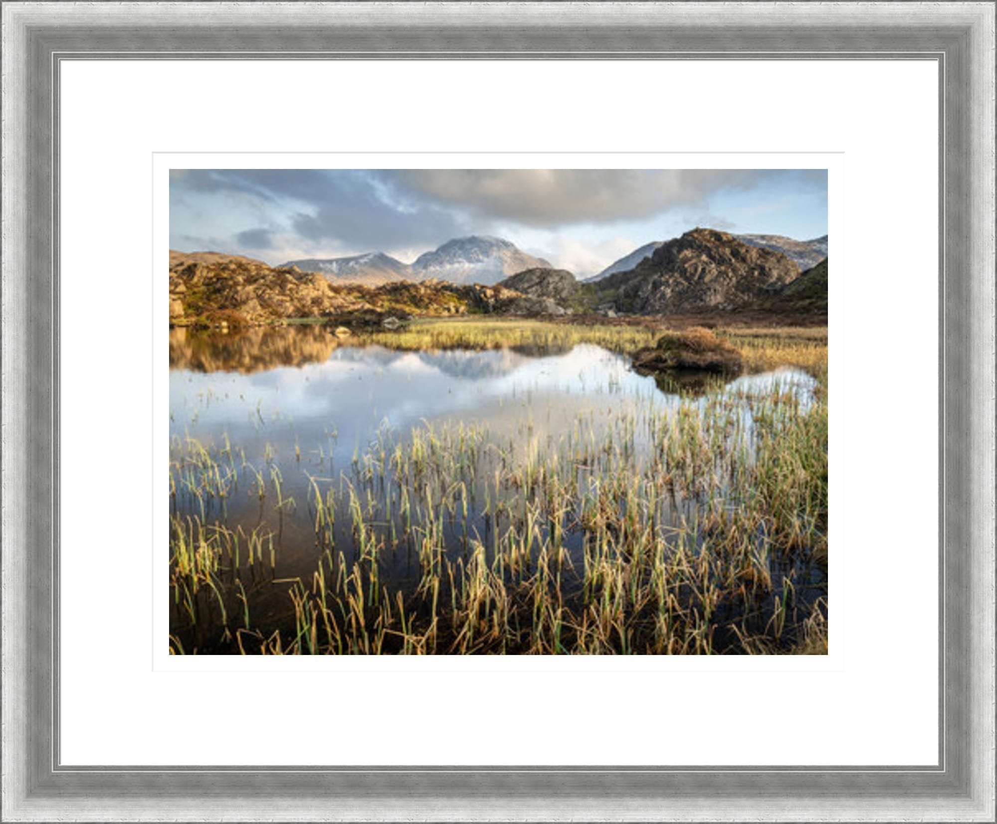 38mm Silver Distressed Lake District Framed Print