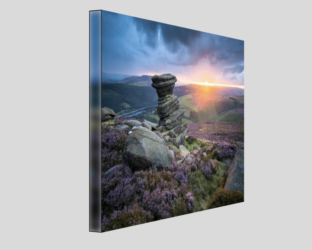 Strretched Canvas Peak District Salt Cellar Photography Print