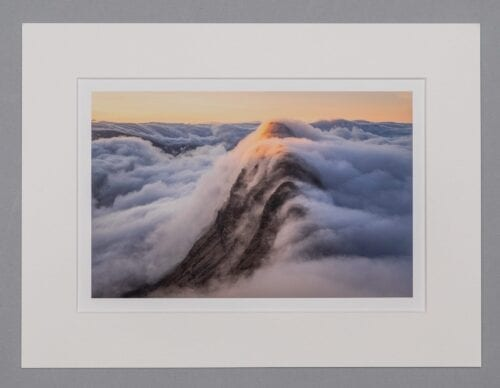Snow White Scotland Assynt Suilven Mounted Print
