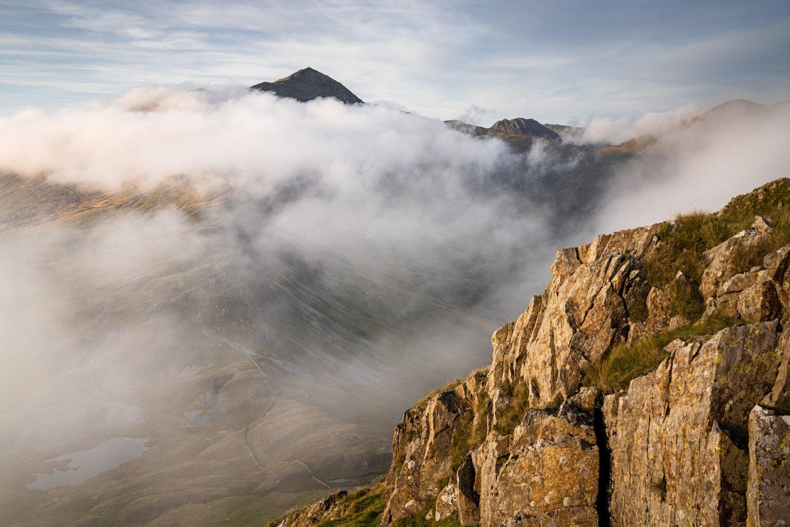 Yr Aran Sunset Looking Towards Snowdon - Snowdonia Landscape Photography