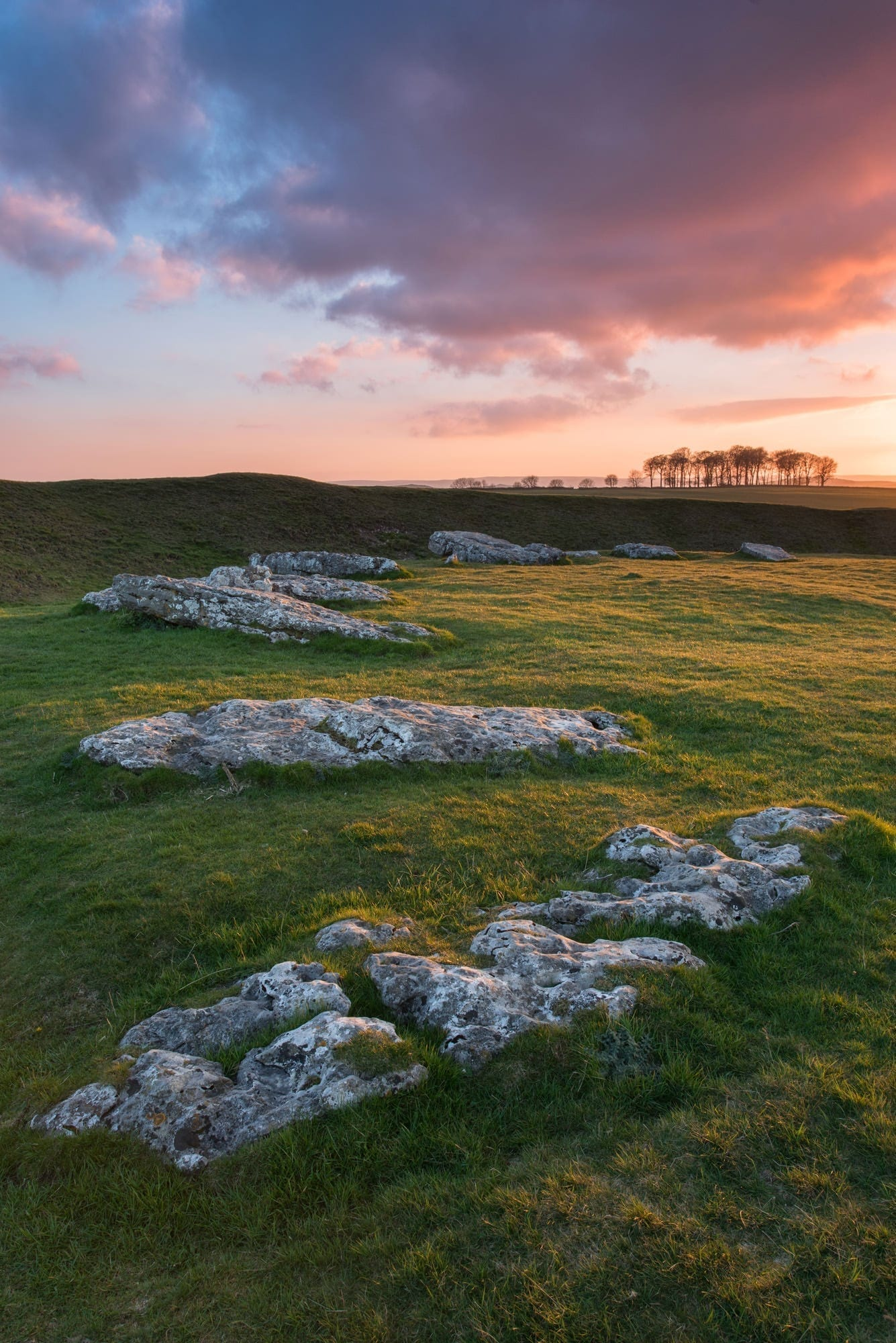 Arbor Low Sunset - Winter in the Peak District Photography Workshop