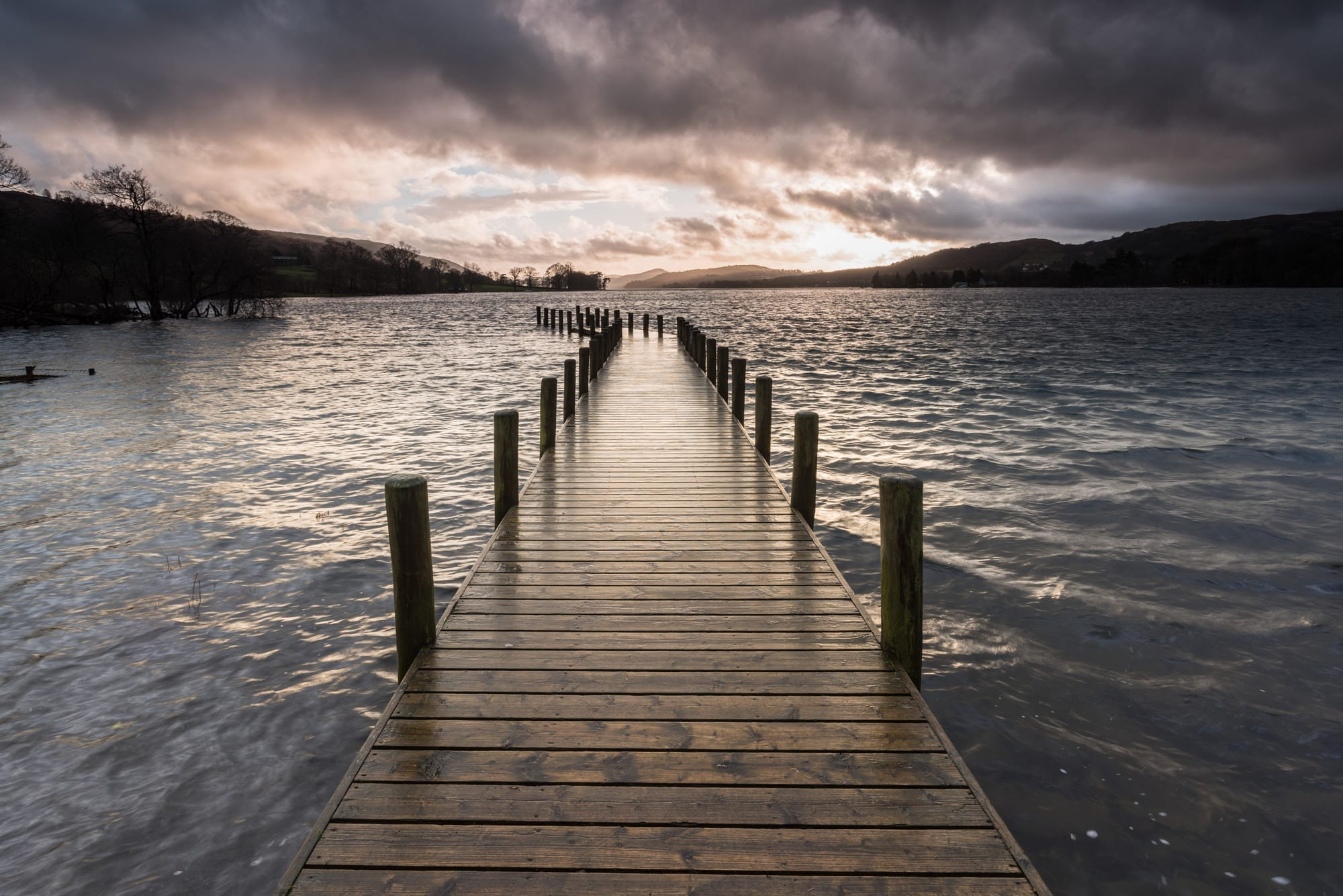 Coniston Jetty Storms - Lake District Photography