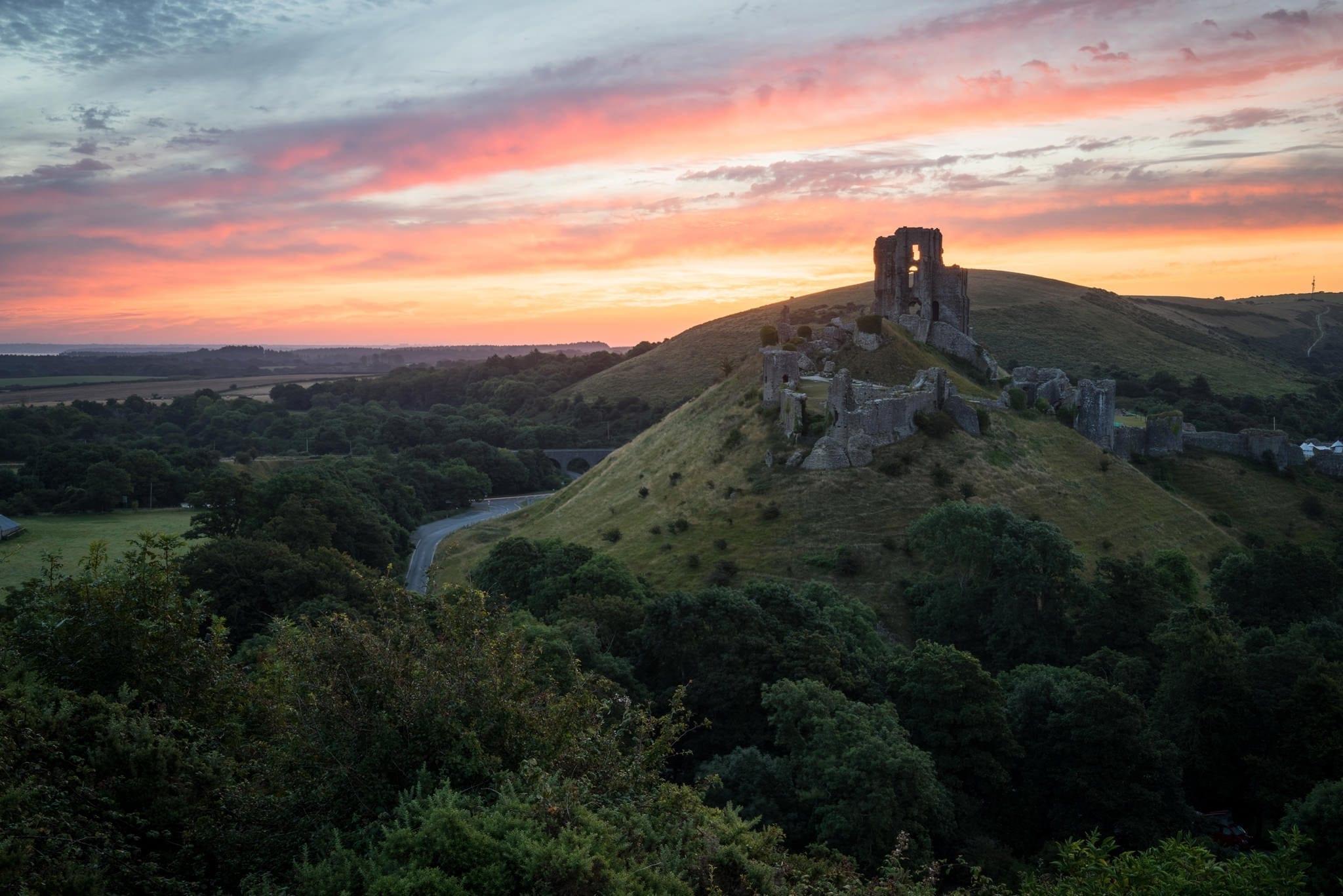 Corfe Castle Sunrise - Dorset Photography