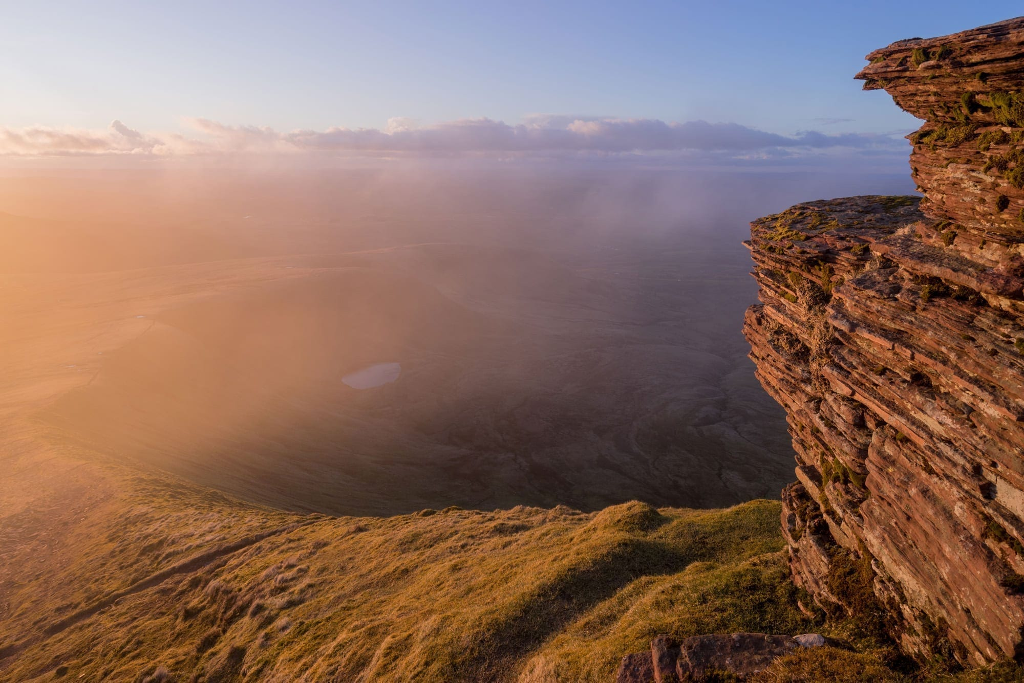 Corn Ddu Sunset - Pen-Y-Fan - Brecon Beacons Photography
