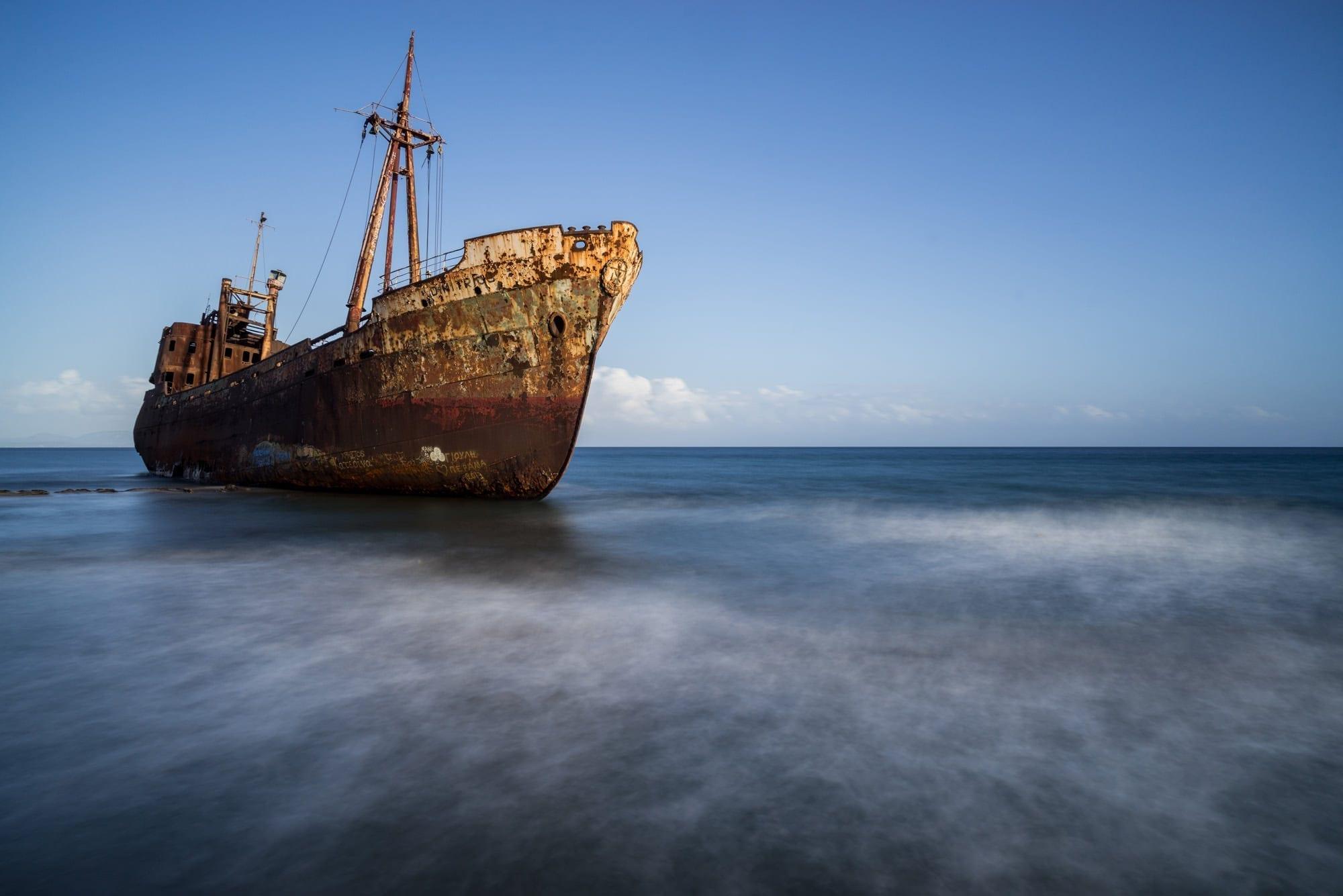 Gythio Shipwreck - Greece Photography