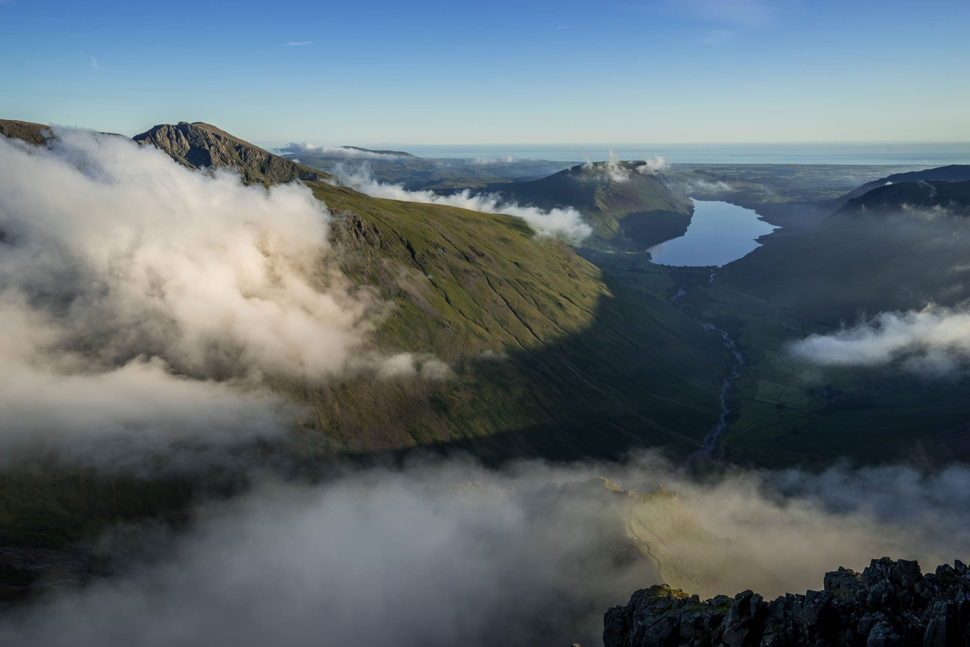 Great Gable to Wast Water Inversion - Lake District Photography