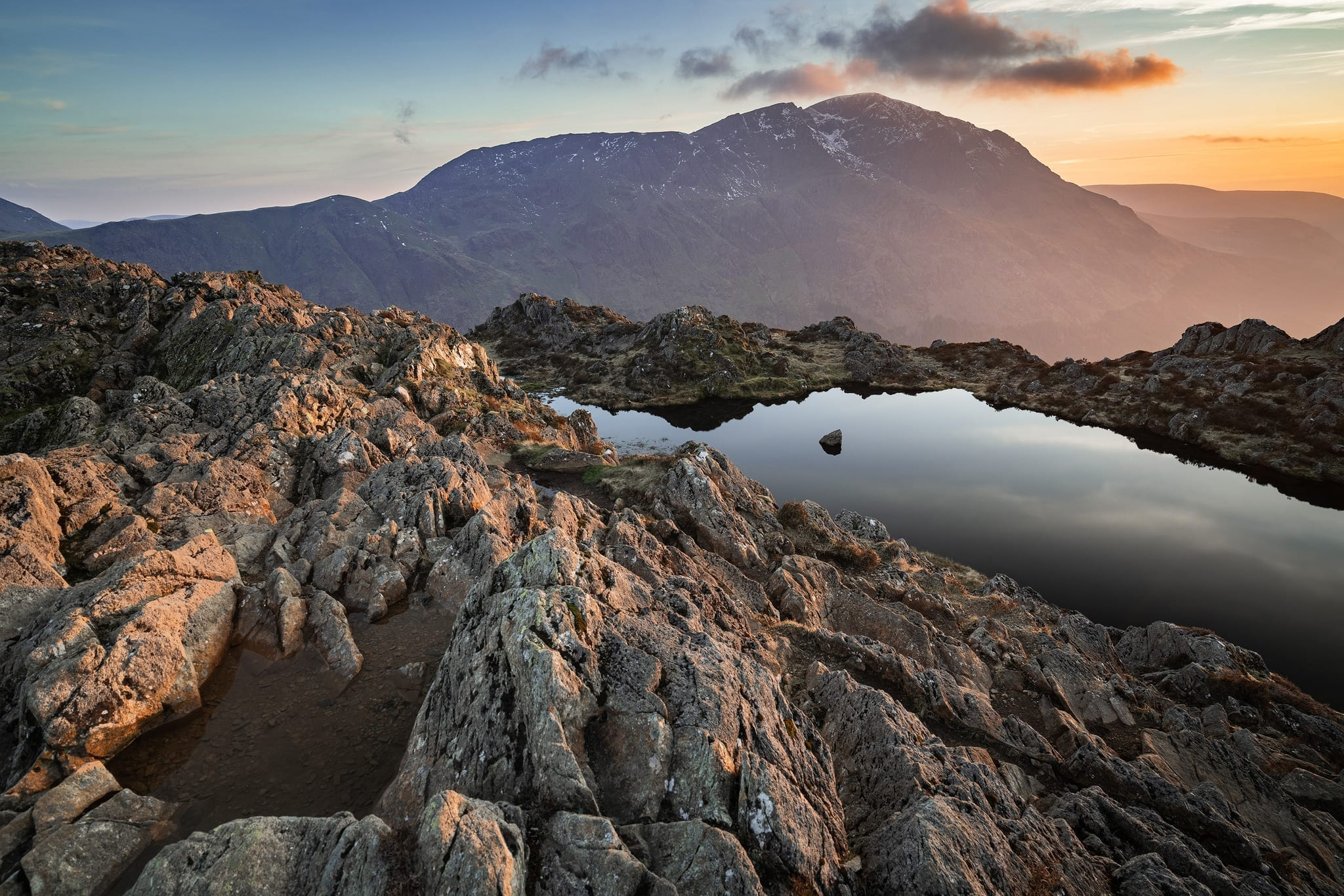 Haystacks to Pillar Sunset - Lake District Photography Wild Camping Photography Workshop